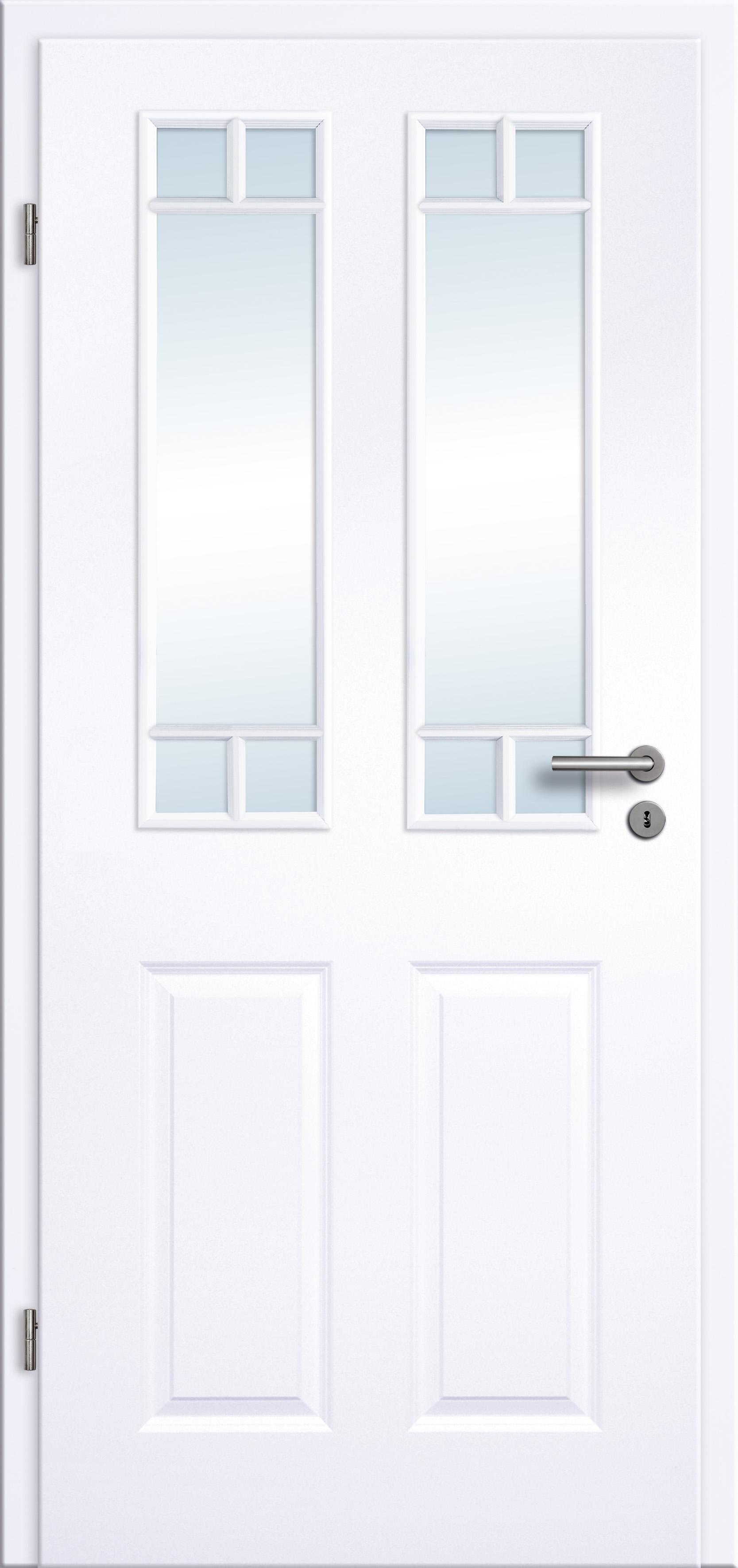 Turbo Innentür Zimmertür Stiltür RSP Weißlack weiss und Lichtausschnitt FG88